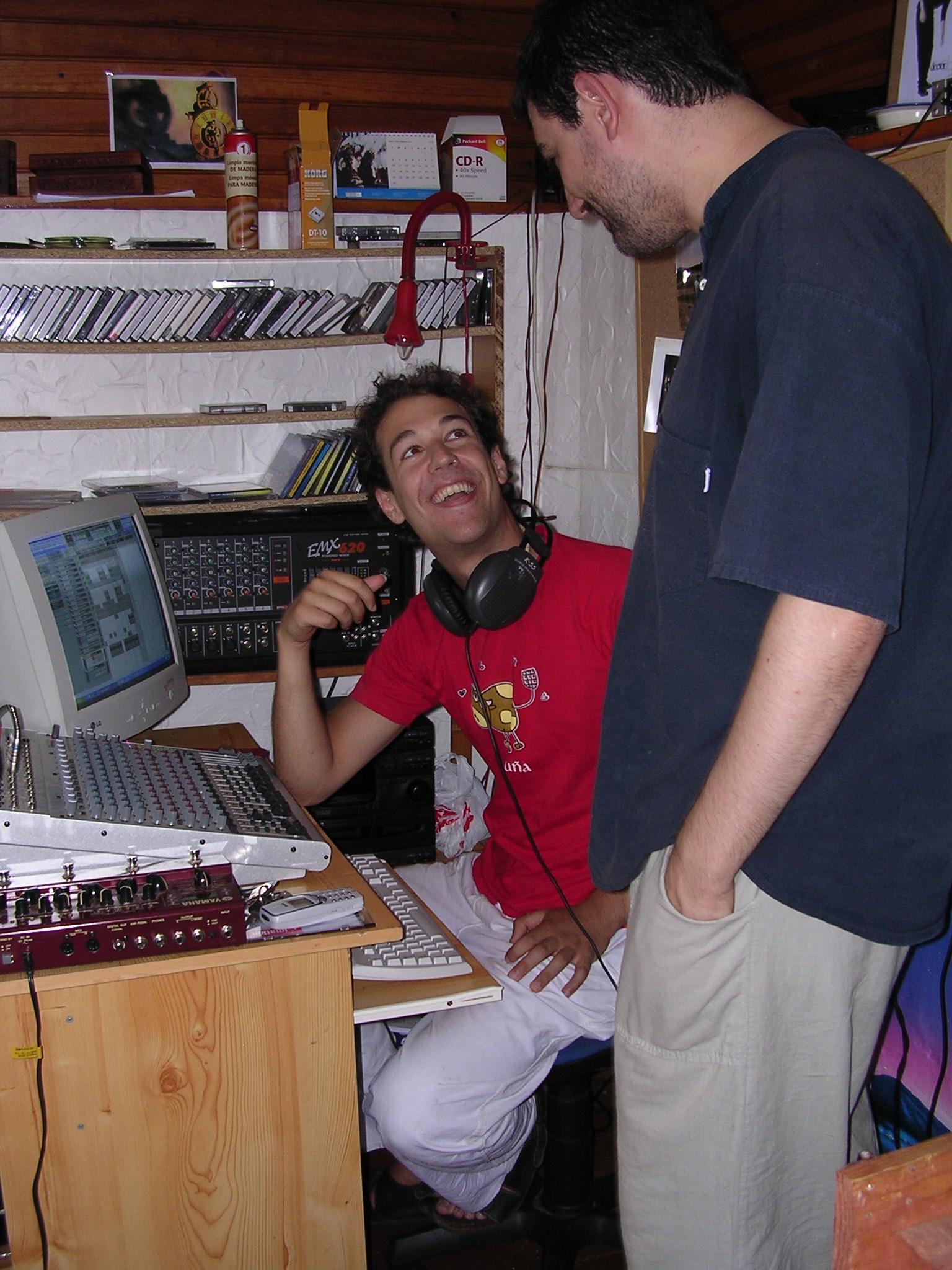Con el productor y arreglista Raúl Grillo