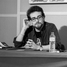 El poeta Sesi García en Versos sobre el Pentagrama