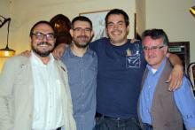 Con Rodolfo Serrano y Eloy Bohán