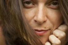 La poeta Sara Zapata (Fotografía de Nieves Rodríguez)