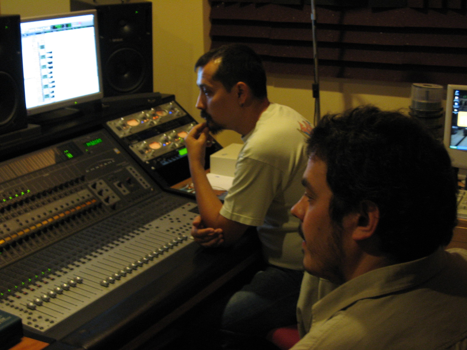 En el estudio de grabación