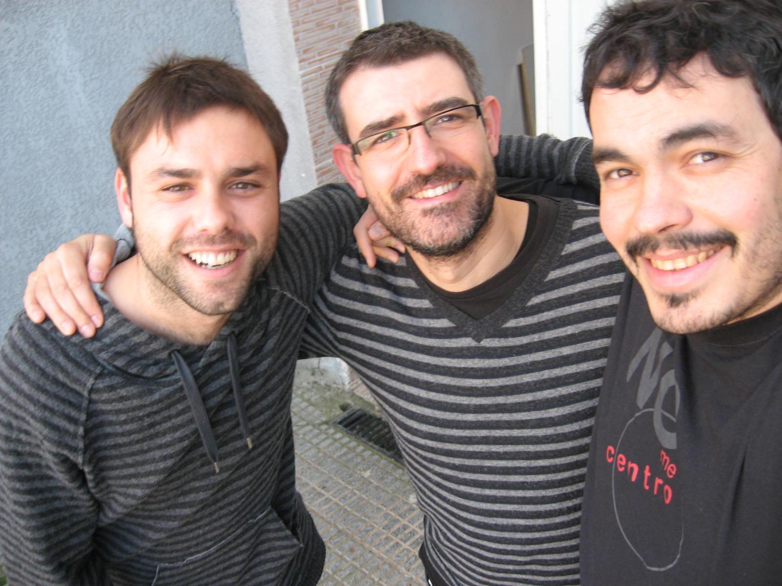 Junto a José Luis Manzanero en la grabación del disco El Río de los ojos