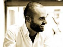 El poeta David Moralejo (Fotografía del http://elhedonista.es/)