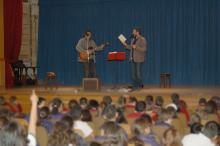 Recital poético musical en el Colegio La Salle San Rafael para alumnos de primaria en Madrid