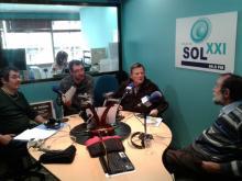 En Radio Sol XXI, junto a Victor Alfaro, Pablo Guerrero y Fernando González Lucini