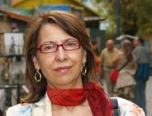 La poeta Juana Vázquez (Fotografía y biografía extraída de http://www.cuadernosdelaberinto.com/)