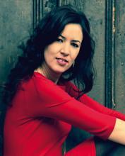 La poeta Silvia Gallego. Foto extraída de www.cuadernosdellaberinto.com